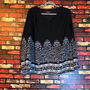 3/$15🌼 Size 20 Jessica London Blouse